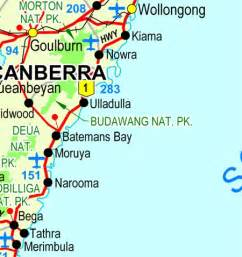 south coast map