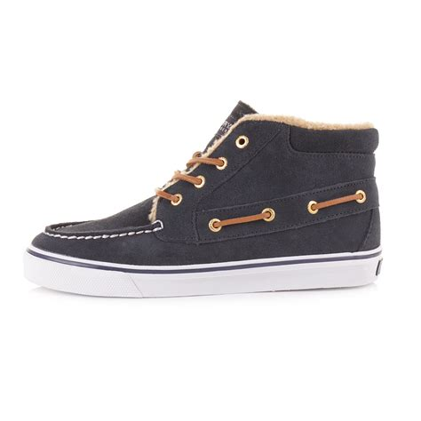 top boats online shop mens sperry betty navy suede teddy hi top boat deck casual