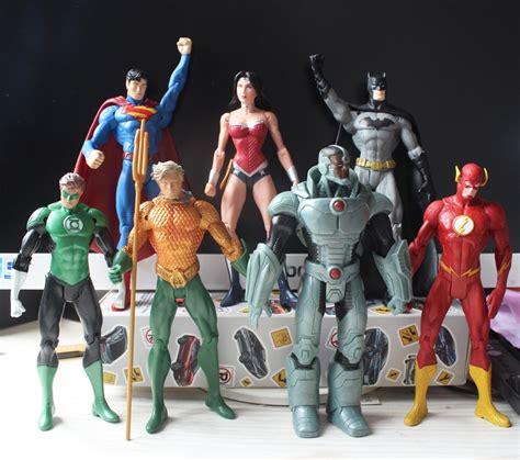 7 pcs set justice league pvc figure superman batman flash collection model