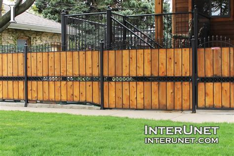 wood and metal fence fence designs ideas styles interunet