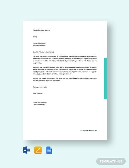 early probation termination letter template word