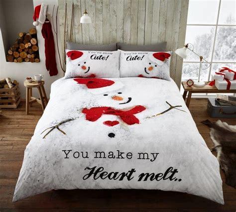 snowman comforter snowman cute christmas make heart melt modern duvet cover