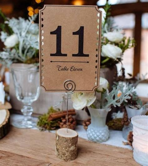 wedding table number ideas pictures 17 winter wedding table numbers ideas happywedd