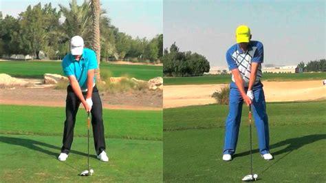 golf swing justin rose justin rose v sergio garcia youtube