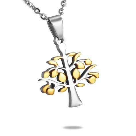 tree of life l 361l stainless steel tree of life pendant mr005p rojaai