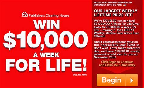 Is Pch 5000 A Week For Life Real - giveaway no 4900 for your chance to win pch s biggest ever superprize