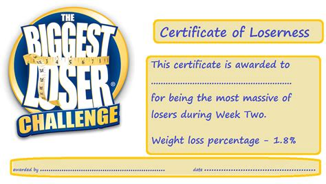 Loser Certificate Template by Loser Certificate Template 28 Images Loser Invitations