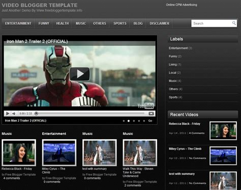 blogger youtube youtube video blogger templates february 2013