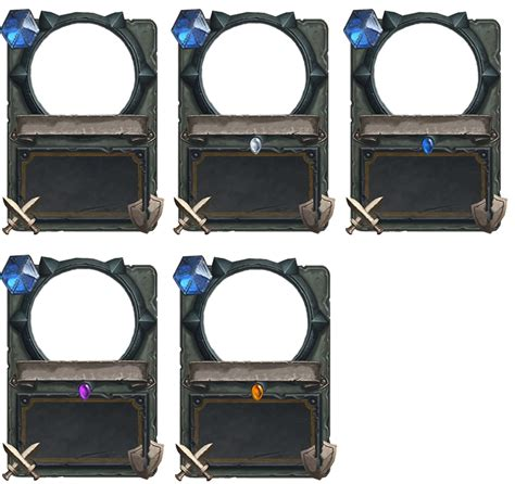 hearthstone gold card template hearthstone empty cards weapon by demaretc
