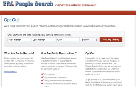 How To Opt Out Of Usa Search How To Remove Your Information From The Web