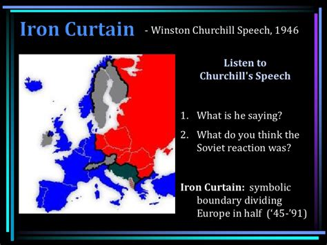 define iron curtain wwii review origins of the cold war and containment policy