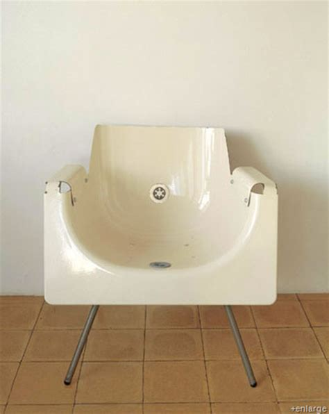 recycled bathtubs creative chairs from odd materials