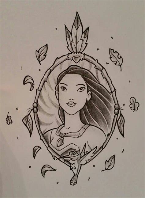disney princess tattoos designs pocahontas design disney design