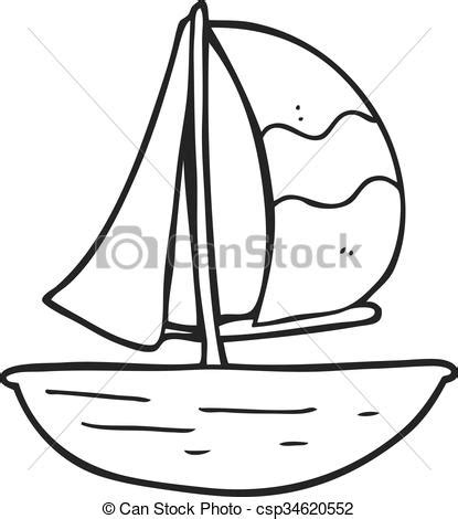 boat cartoon images black and white freehand drawn black and white cartoon sail ship