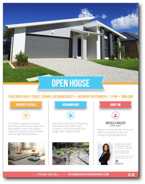 images house brochure template real estate open flyer templates