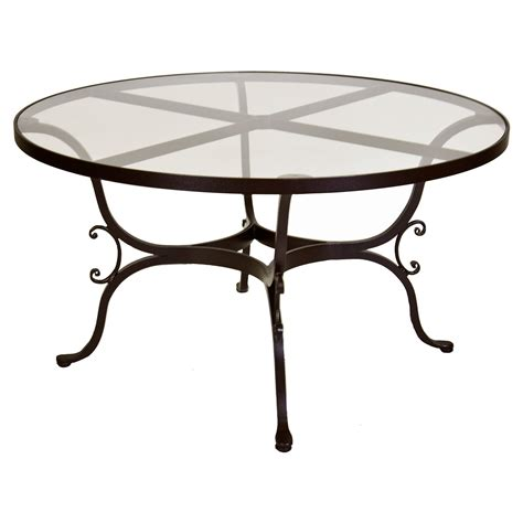 Glass Top Patio Table O W Ashbury 53 75 In Glass Top Patio Dining Table At Hayneedle