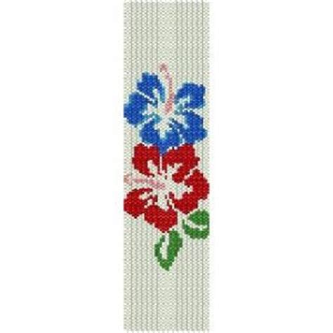 bead loom flower patterns hibiscus duo loom beading pattern for cuff bracelet sale