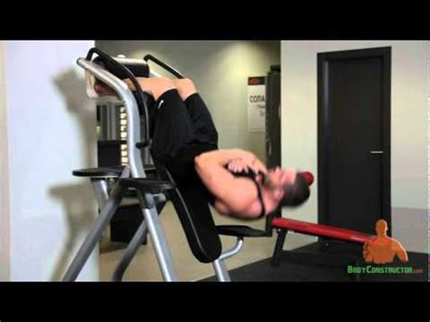 inverted sit up bench suspended bench sit ups http bodyconstructor com youtube