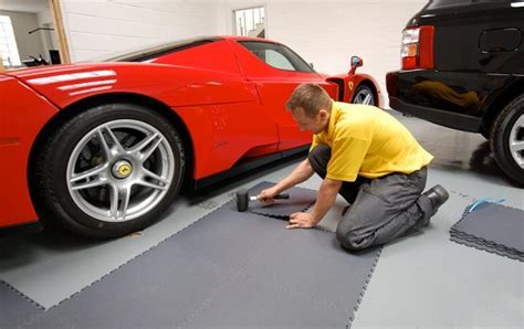 Garage Floor Covering with Rubber Tile   Flooring Ideas