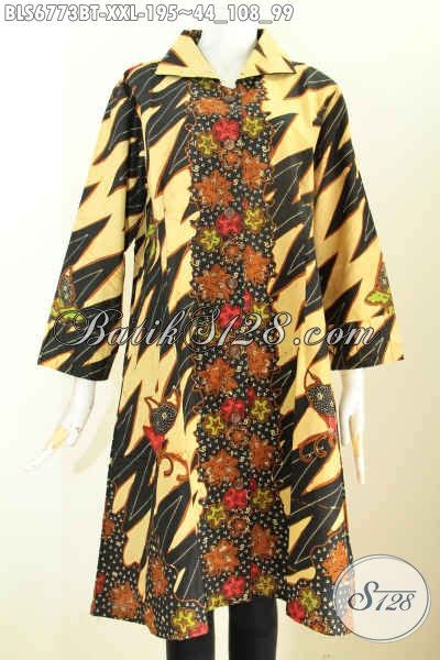 Jumbo Blouse Big Size Batik Khana blouse batik wanita ukuran jumbo jual model baju batik