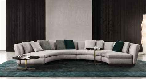 rounded couch upholstered round sofa seymour by minotti design rodolfo