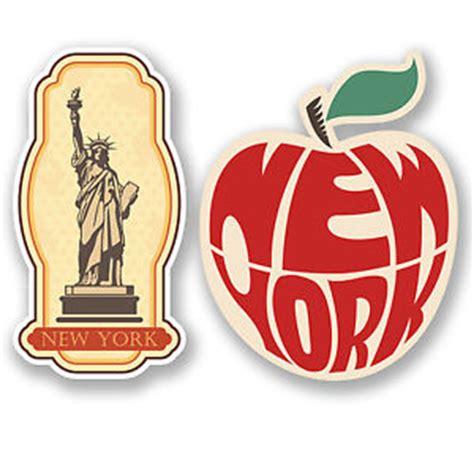 Kofferaufkleber New York by 2 X New York Usa Vinyl Stickers Laptop Car Suitcase