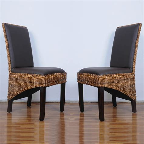 international caravan set of two salma abaca dining chair