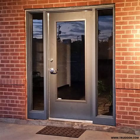 exterior steel doors with glass commercial metal doors with steel lite kit and glass