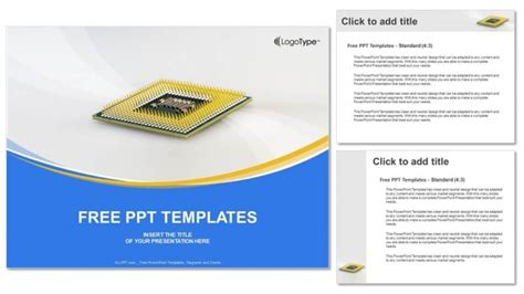 computer cpu chip powerpoint templates