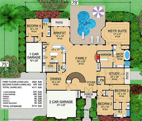 mansion floor plans mini mansion 36105tx architectural designs house plans
