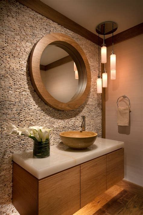 stone wall bathroom for wall dress up the walls of your home decorative stones fresh design pedia