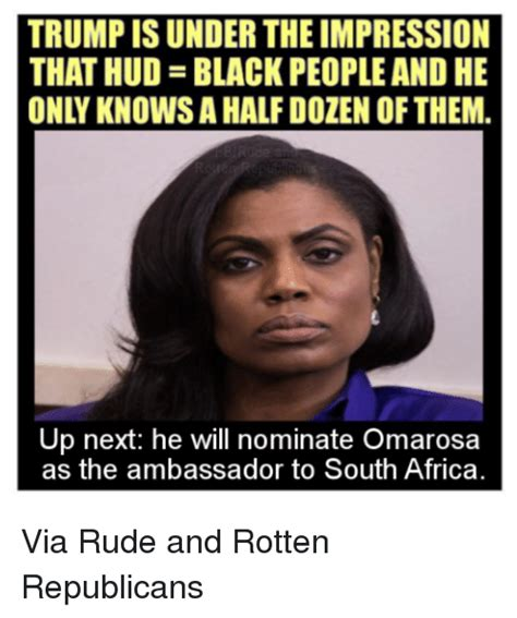 Pics Meme - trump is under the impression that hud black peopleand he