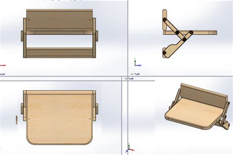 folding wall chair stl step iges other 3d cad