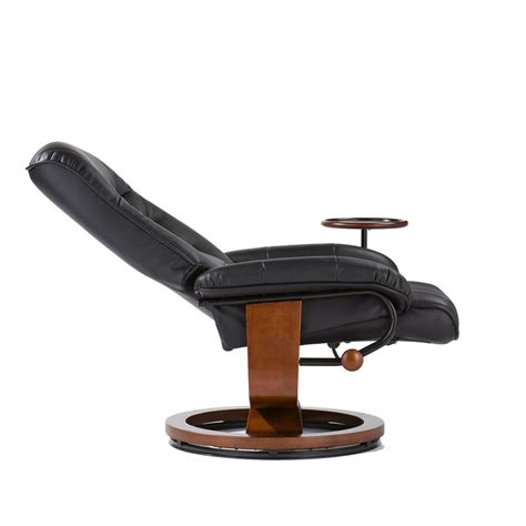 swivel table top for recliner bonded leather birch u base swivel glider reclining chair