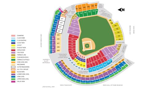 cincinnati reds seating great american ballpark seating chart www imgkid