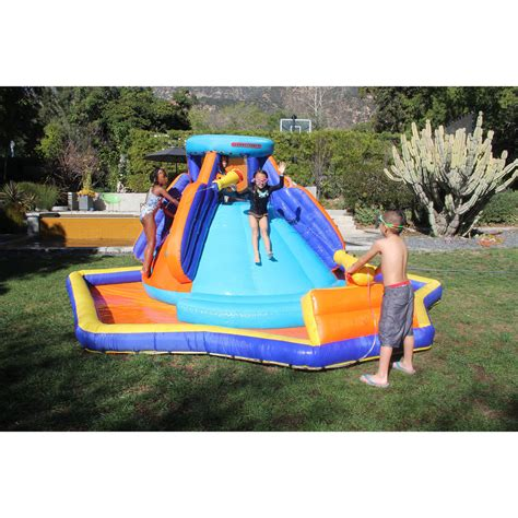 backyard playground slides inflatable sportspower battle ridge water slide outdoor