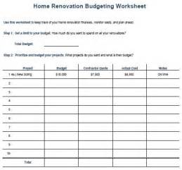 House Renovation Planner The 25 Best Ideas About Home Budget Template On Pinterest