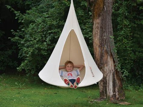 cacoon an indoor outdoor hanging tent that you can take