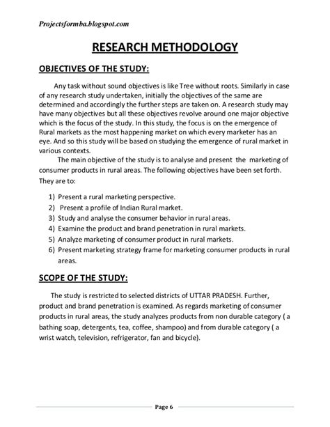 Dissertation Report a dissertation report to analyze the marketing of consumer