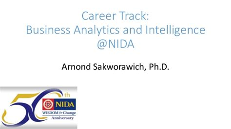 Mba In Business Intelligence Analytics by Career Track Business Analytics And Intelligence Nida โดย