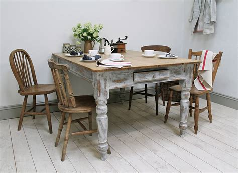 Distressed Kitchen Tables by Heavily Distressed Pine Kitchen Table By Distressed But