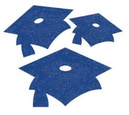 blue graduation cap cut out wall decorations