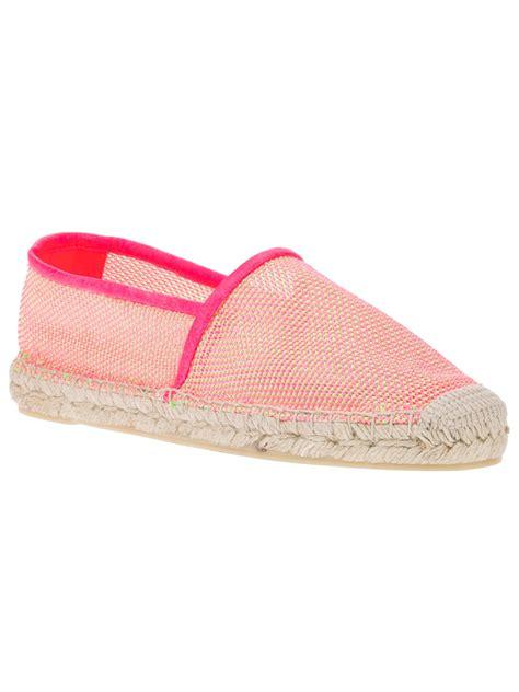 Kaos Fendi White Yellow 1 Stella Mccartney Neon Mesh Espadrilles In Pink Lyst
