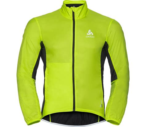 green cycling jacket odlo fujin s cycling jacket green black buy it