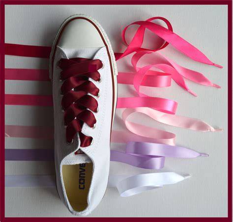 satin ribbon shoe laces for converse trainersboots shoes