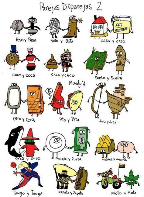 imagenes palabras homofonas palabras par 243 nimas desde la imagen ideas para la clase