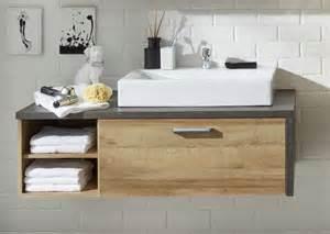 Waschbeckenunterschrank eiche riviera honig beton woody 93 01137