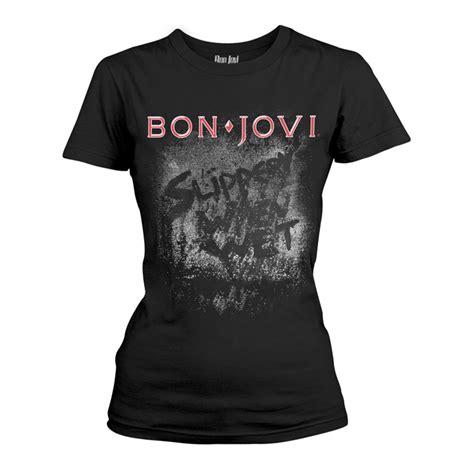 Kaos T Shirt Bon And Jovi 1 bon jovi slippery when t shirt rockzone