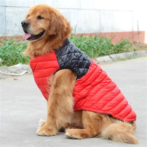 clothes for golden retrievers winter warm big large pet clothes vest snowsuit golden retriever pitbull