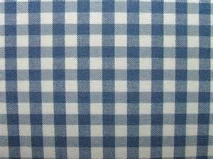 Ideal Upholstery Ashley Navy Blue Woven Gingham Check Cotton Designer Fabric